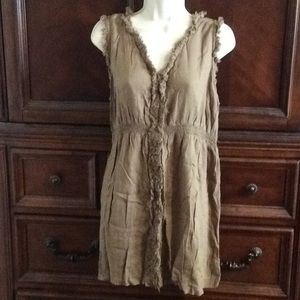 Brown lightweight dress sz large maternity